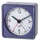 Lautlos-Wecker TFA Push Blau-Metallic Sweep-Uhrwerk ohne Ticken