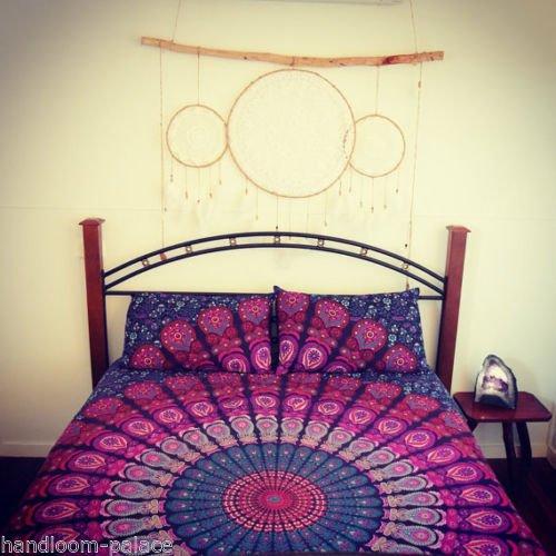 Queen Ombre Mandala Bettbezug Überwurf Baumwolle Bettbezug indischen Hippie Tapes Versuchen mit Kissen Bezug