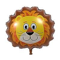ZHOUBA Funny Cute Big Size Animal Head Helium Foil Ballons Birthday Party