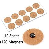 12 fogli (120 magnete) cerotti magnetici per digitopressione 600 Gauss magneti per digitopressione sollievo dal dolore magnete per la salute del corpo terapia naturale