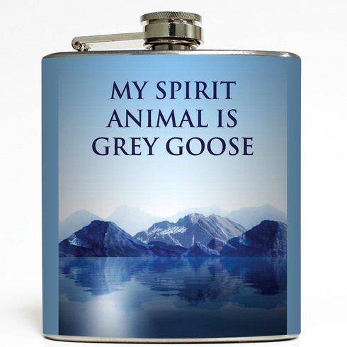 my-spirit-animal-is-grey-goose-liquid-courage-flasks-6-oz-stainless-steel-flask-by-liquid-courage-fl