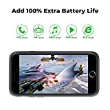 DESTEK Battery Case for iPhone 6/6S/7/8 - [3000mAh] Rechargeable Portable Power Charger Case Slim for iPhone 6/6s/7/8 Charging Case Compatible with Wire Headphones 4.7 Inch Black (Upgraded Version)