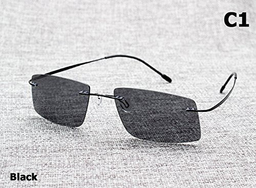 Aprigy Das Matrix-Art polarisiert Driving M?nner Sonnenbrille Brand Design Titanium Speicherfeld Sun Glasses