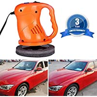 Pulidora eléctrica para encerar el coche, kit con pulidora, cubierta de felpa y limpiamanos