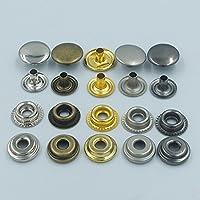 """100Set 1/2""""pulsante a scatto rapido 12mm Rivetti Fasteners in pelle per perno Kam Craft Mix color"""