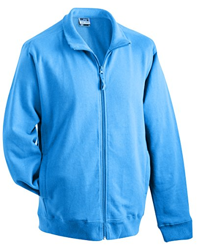 James & Nicholson Herren Sweat Jacket Sweatshirt Blau (Blue)