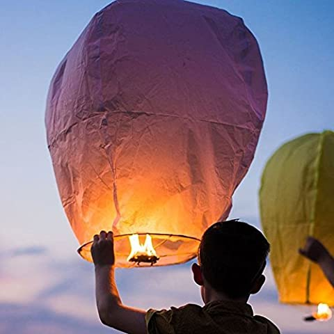 20 CIELO LANTERNE KongMing lanterna che desiderano lampada - colori assortiti