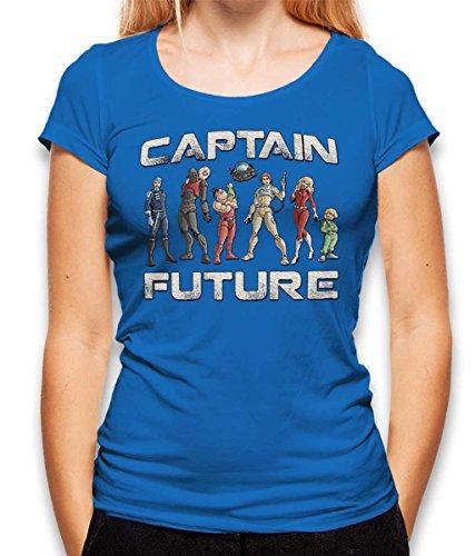 Girl Fi Sci Kostüm - shirtminister Captain Future Damen T-Shirt Royal XL