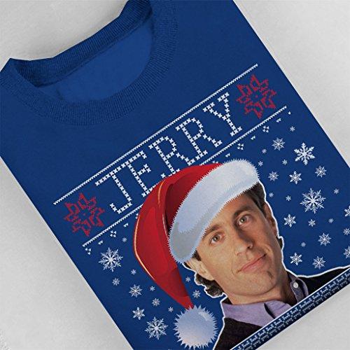 Seinfeld Jerry Christmas Knit Pattern Womens Sweatshirt Royal Blue