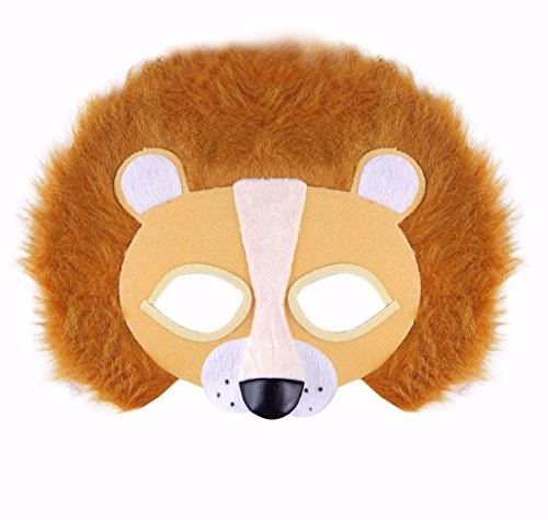 Fantastische pelzige Augenmaske, Dschungel, Zoo, gruselig, Kostüm-Zubehör für Kinder, Jugendliche und Erwachsene, Unisex, UK von Lizzy®