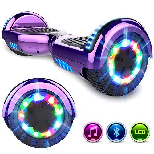 GeekMe 6.5 Zoll Self Balance Scooter Elektroroller mit Bluetooth und Blinkenden Rädern E-Board Hover E-Skateboard UL2272 Bestätigt