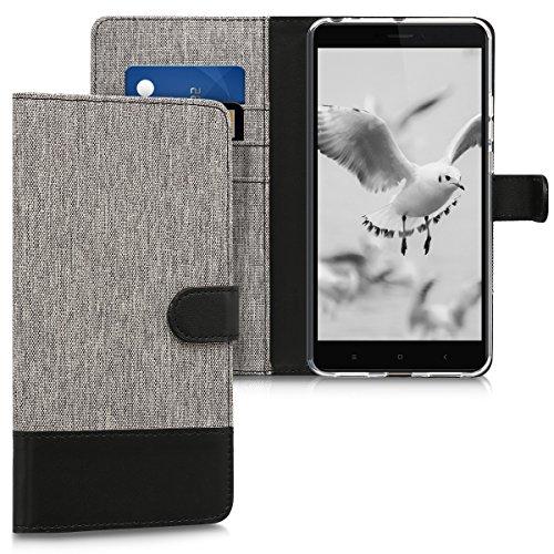 kwmobile Xiaomi Mi MAX 2 Hülle - Kunstleder Wallet Case für Xiaomi Mi MAX 2 mit Kartenfächern und Stand - Fundas para teléfonos móviles (Xiaomi, Mi MAX 2)