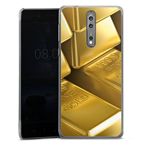 DeinDesign Nokia 8 Hülle Case Handyhülle Goldbarren Gold Barren