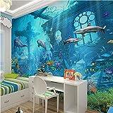 Ytdzsw 3D Geprägte Sea World Fisch Fototapeten Wandbilder Tapeten Für Kinder Schlafzimmer Wohnzimmer Wand Kunst Dekor Minion Tapete-300X210Cm