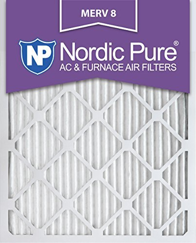 Nordic Pure 12 x 20 x 1 m8-6 MERV 8 Bundfaltenhose AC Ofen Air Filter, 12 x 20 x 1, Box of 6
