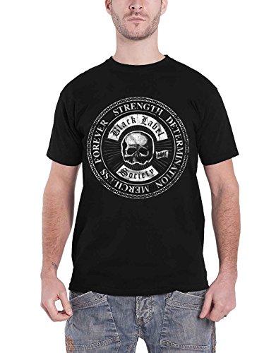 Black Label Society T Shirt SDMF Skull Band Logo Nue offiziell Herren (Society Hoodie Label Black)