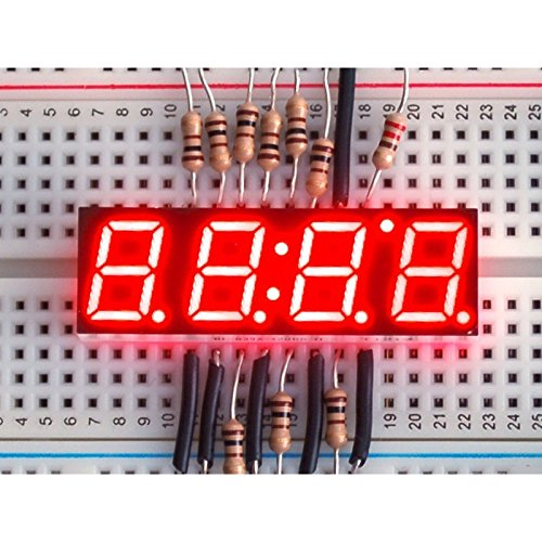 Red 7-segment clock display - 0.39