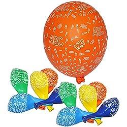 """15 tlg. Set: - """" Schulanfang ABC Schultüten """" - Luftballons - Ballon Schulbeginn & Kindergeburtstag / als Tischdekoration Dekoration Schulbeginn Tischdeko Einschulung - Party Geburtstag Vorschule - Schuleinführung Buchstaben Schule"""