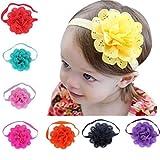 Kfnire 8Pcs Baby Girls Flower Headbands Photography Props Headband Accessories