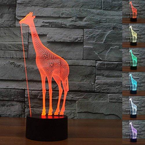 3D Giraffe Optische LED Illusion Lampen 7 Farbe blinkende Kunst Skulptur Lichter Schlafzimmer Schreibtisch Tisch Nacht Licht Awesome Geschenke