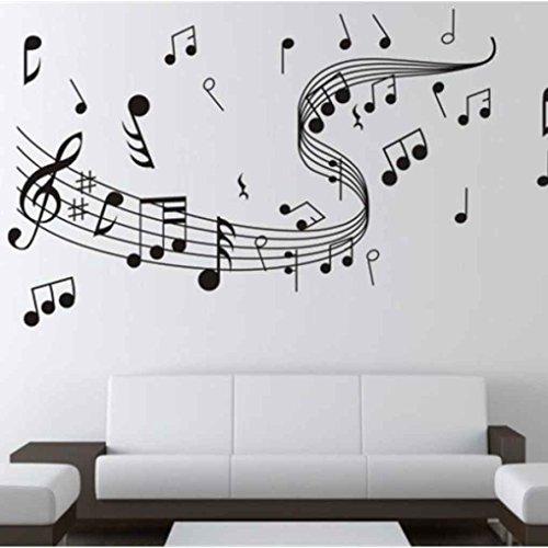 Elenxs Notas música Arte Etiqueta Pared removible