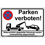 Schild 'Parken verboten' Hinweisschild 300x200 mm stabile Aluminiumverbundplatte 3mm stark