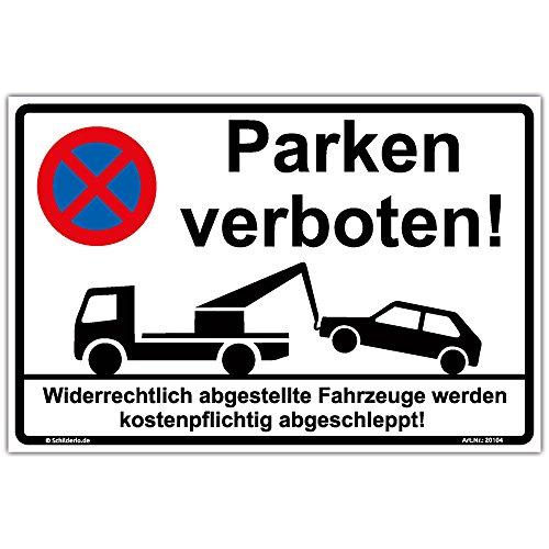 """Schild\""""Parken verboten\"""" Hinweisschild 300x200 mm stabile Aluminiumverbundplatte 3mm stark"""