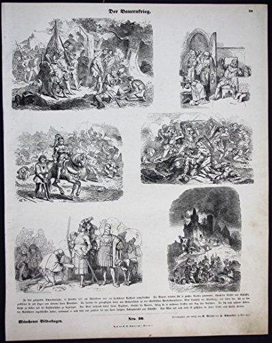 Grafik Der Bauernkrieg - Militär - Münchener Bilderbogen