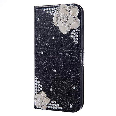 Diamond Sparkle Funkeln Bling für Samsung Note 10,Glitter Glitzer Leder Stand Funktion Kartenfach Bookstyle Slim…