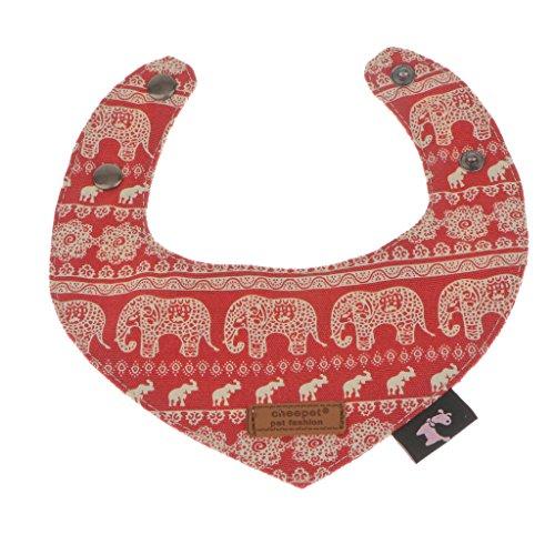 MagiDeal Haustier Hunde Katze Einstellbar Lätzchen Halsband Halstuch / Dreieckig Bandana aus Baumwoll , Rot - S