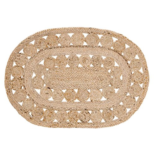 VHC Marken Celeste Jute Teppich, Textil, beige, Oval 20