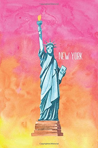Price comparison product image New York: 160 Page Softcover Lined Journal,  College Ruled Composition Notebook,  8 x10 Blank Lined Diary book for Girls,  Boys,  Teens,  Adults,  Journaling,  Office Work,  Notes and School