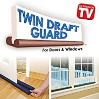 2 Pack Double Sided Twin Draft Guard Draught Excluder for Doors & Windows