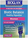 Bioglan Biotic Balance Healthy Digestion for Women, Probiotic, contains 20 billion CFU live bacteria with Folic Acid, Vitamin B6, helps support healthy digestion, one month supply – 30 capsules by Pharmacare Europe Ltd