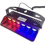 T Tocas (tm) 6W LED de haute intensité lumières stroboscopiques lampe urgente pour pare-brise de voiture,automatique, 16 mode de changement (Rouge-Bleu)