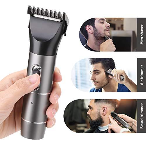 WADEO Haarschneidemaschine Profi Haarschneider Bartschneider Männer Langhaarschneider Präzisionstrimmer Hair Clipper Elektrischer Haartrimmer Set mit 4 Kämme für Kinder und Herren