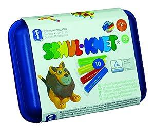 Feuchtmann Juguetes 6280110 - plastilina Maxi Box Escuela Amasado, 10 Varillas en Caja de Almacenamiento