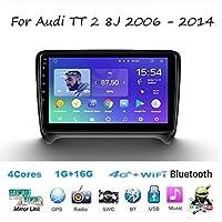 For Audi TT 2 8J 2006-2014 Sat Nav Double Din Car Stereo Radio GPS Navigation 9 Inch Head Unit Multimedia Player Video Receiver Carplay DSP RDS