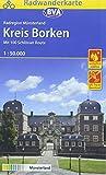 Radwanderkarte BVA Radregion Münsterland Kreis Borken mit 100 Schlösser Route 1:50.000, reiß- und wetterfest, GPS-Tra