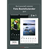 Foto-Bastelkalender 2017 - 2 in 1: schwarz und weiss - Bastelkalender: Do it yourself calendar A4 - datiert