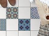 creatisto Fliesenbelag | Design-Dekorsticker Küchenfolie Bad-Fliesen Badgestaltung | 30x30 cm Muster Ornament Orientalisches Mosaik - 4 Stück