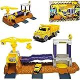 Motormax Baustelle mit Fahrzeug und Zubehör mit vielen Funktionen