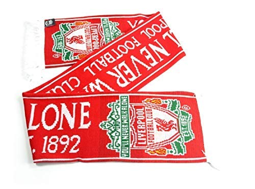 Liverpool FC Official Established 1892 Red Scarf