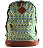 JNTworld unisex Fashion Traditional Style pattern Backpack Canvas School Bag Lady Ruacks Daypack
