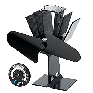 First4Spares Eco Friendly Stove Fan For Wood, Coal Burning Gas Stoves