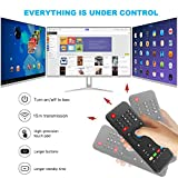 Mini Wireless Keyboard with Air Remote - VIDEN 2.4Ghz Wireless Touchpad Keyboard with Mouse, Air Remote Control, IR Learning, USB Rechargeable, For Android TV Box, HTPC, IPTV, PC, Pad and More Devices