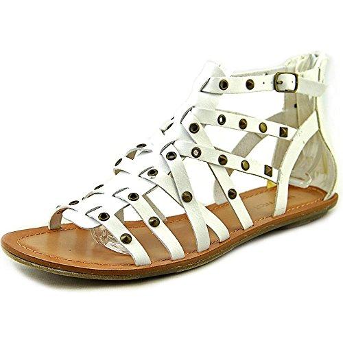 Nine West Attractir Synthetik Gladiator Sandale White