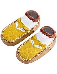57633ec3300 Mitlfuny Niños Niñas Invierno Zapatillas Calcetines de Piso Infantil Cálida  Tejer Calzado Pinguino Dibujos Animados Antideslizantes