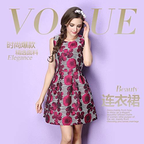 QUNLIANYI ballkleid lang Damen tüll Nanshan Sleeveless Slim Fit Puff Rock Gehobene Jacquard Kleid Großhandel M Grün (Plus Size Großhandel Kleider)