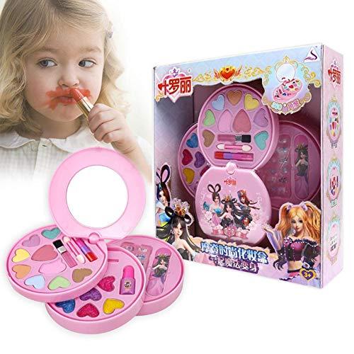 Schminksachen Mädchenkoffer für Kinder Mädchen Schönes Schminkset mit 360 Grad Drehbar aus...